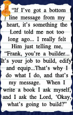 Thoughts from Christian author Frank Peretti